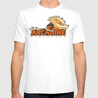 Arcanine Athletics Mens Fitted Tee White SMALL