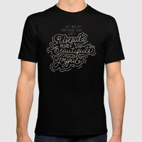 Useful, Beautiful, Joyful Mens Fitted Tee Black SMALL