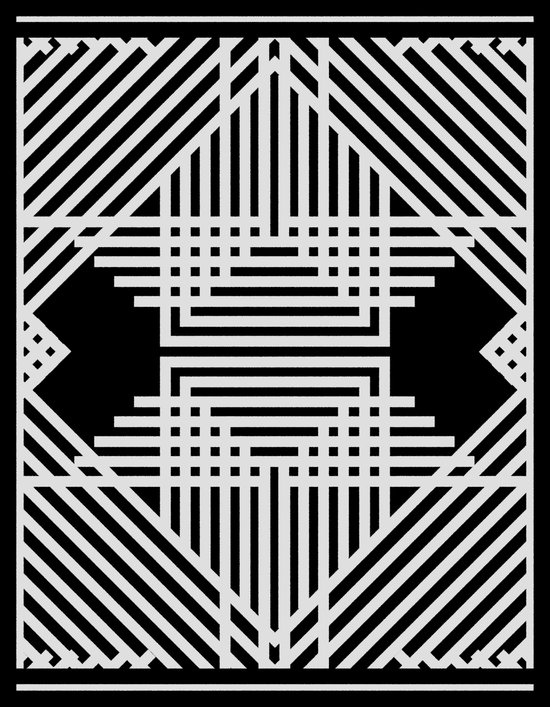 Tribal Black & White Remix Canvas Print