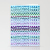 chevron Stationery Cards featuring CHEVrON by Monika Strigel