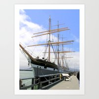 Great Ship In The San Fr… Art Print