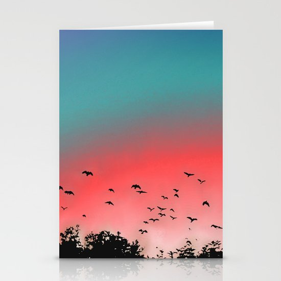 Birds Flying High Stationery Card