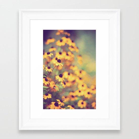 bright-eyed Framed Art Print