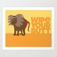 Kids' Bathroom - Wipe Your Butt Art Print