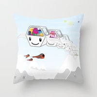 SF Cable Car Throw Pillow