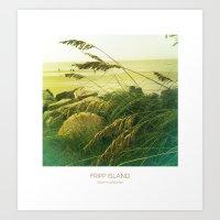 Beach Grass - Fripp Isla… Art Print