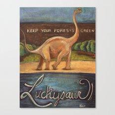 Luckysaur Canvas Print