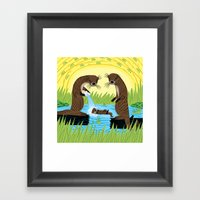 An Otter's Paradise Framed Art Print