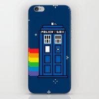 TARDIS / Nyan / 8-Bit Po… iPhone & iPod Skin