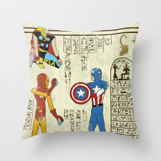 hero-glyphics: Avengers Throw Pillow