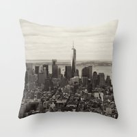 Downtown Manhattan Throw Pillow