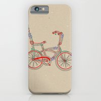 iPhone & iPod Case featuring Aztec Bicycle by marcusmelton
