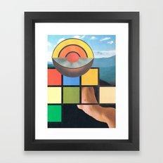 Subheading Flux Framed Art Print
