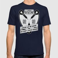 We Don't Need Roads Mens Fitted Tee Navy SMALL