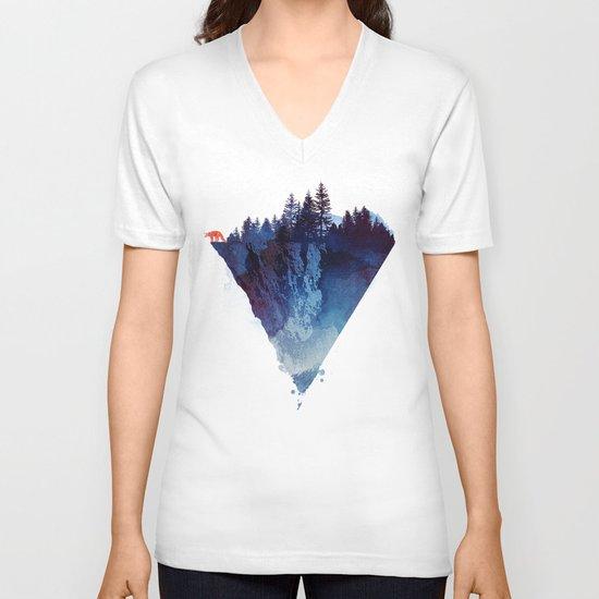Near to the edge V-neck T-shirt