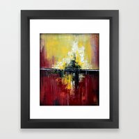 Shanghai - Textured abstract painting Framed Art Print