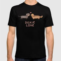 Doxie Love Mens Fitted Tee Black SMALL