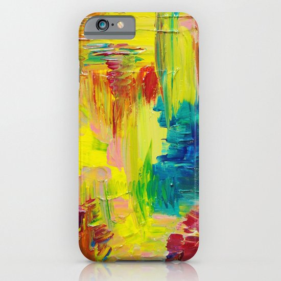 GOING THROUGH THE MOTIONS -  Stunning Saturated Bold Colors Modern Nature Abstract iPhone & iPod Case