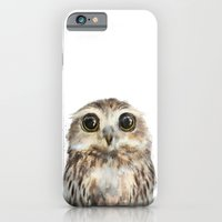 christmas iPhone & iPod Cases featuring Little Owl by Amy Hamilton