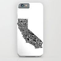 iPhone & iPod Case featuring Typographic California by CAPow!