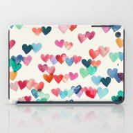 iPad Case featuring Heart Connections - Wate… by Micklyn
