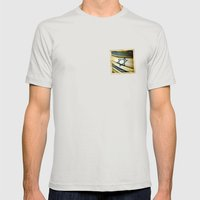 Israel Grunge Sticker Fl… Mens Fitted Tee Silver SMALL
