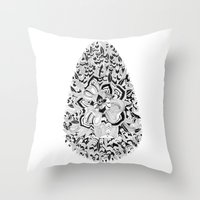 Egg inc Throw Pillow
