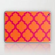 Moroccan Orange & Pink Laptop & iPad Skin