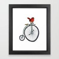 bird on a bicycle. Framed Art Print