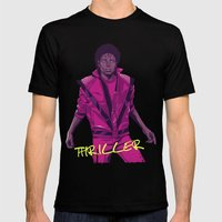 THRILLER - Leather jacket Version Mens Fitted Tee Black SMALL