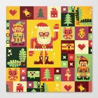 Christmas Geometric Patt… Canvas Print
