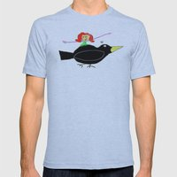 wimsy and the crow Mens Fitted Tee Athletic Blue SMALL