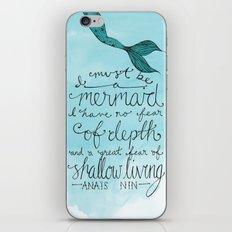 Mermaid Quote iPhone & iPod Skin