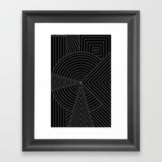 Black White Framed Art Print