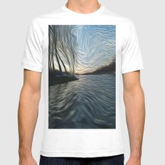 Lost in the Waves SMALL White Mens Fitted Tee