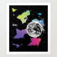 The Neon Spectrum and Cosmic Matter Art Print