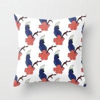 Parrot Boys  Throw Pillow