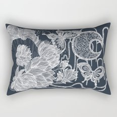 Lotus and Butterfly Rectangular Pillow