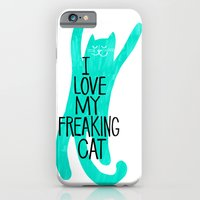 i love my freaking cat - mint iPhone 6 Slim Case