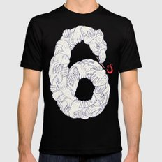 S6 Tee - Many SMALL Mens Fitted Tee Black