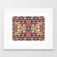Framed Art Print featuring B / O / L / D by Bianca Green