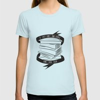 If They Don't Have Books... Womens Fitted Tee Light Blue SMALL
