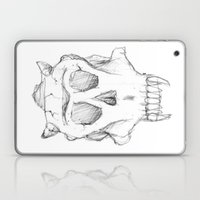 Skull With Horns Laptop & iPad Skin