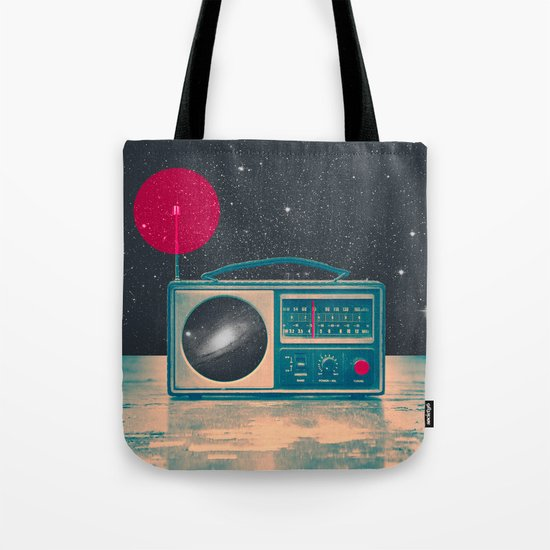 Space Radio Tote Bag