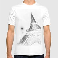 Eiffel Mens Fitted Tee White SMALL