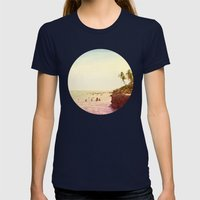 Salt Water Dreams Womens Fitted Tee Navy SMALL