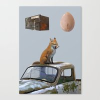 The Fox And One Egg Canvas Print