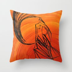 Angel under cover Throw Pillow
