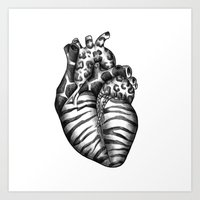 Heart gone wild Art Print
