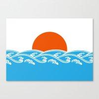 Japanese Tsunami  Canvas Print